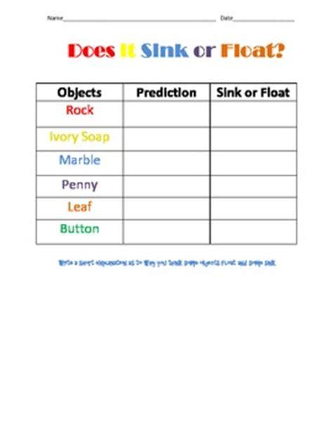 sink or float worksheet float or sink worksheets worksheets for all and