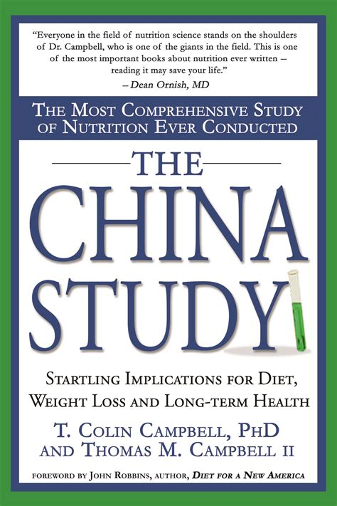 chinese study the china study most important nutrition health book in