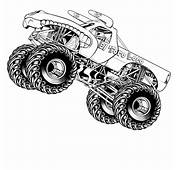 Hot Wheels Coloring Pages Monster Truck  ColoringStar