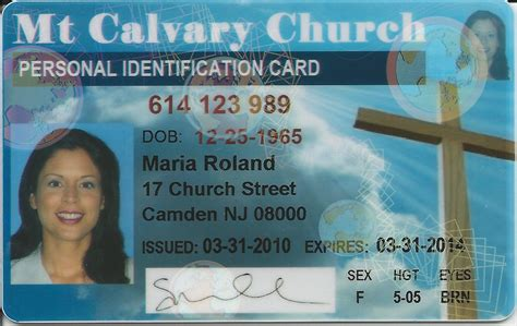 Church Id Card Template by Church Membership Id Cards U S Identification