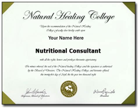 weight management consultant certification board certified nutritional consultant nc diploma program