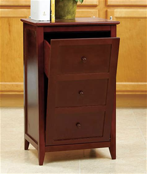 trash can storage cabinet walnut kitchen wooden trash can cabinet tilt out garbage