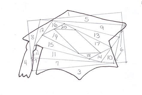 free iris folding templates layout graduation cap iris fold pattern
