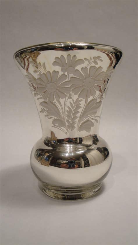 Antique Mercury Glass Vases antique mercury glass vase blown an by lifeinmommatone