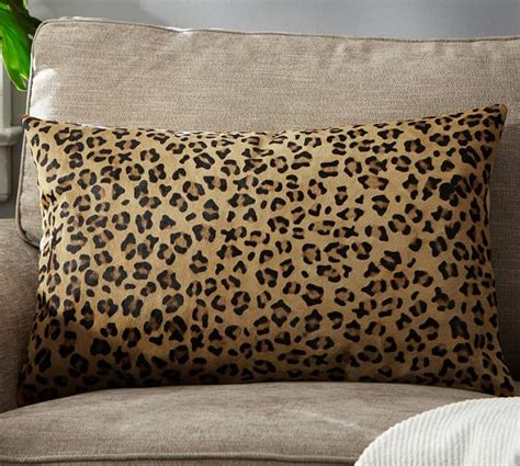 Pillow Cover Printing by Ken Fulk Cheetah Printed Hide Pillow Cover Pottery Barn