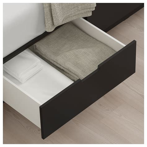 nordli bed frame with storage nordli bed frame with storage anthracite 140x200 cm ikea