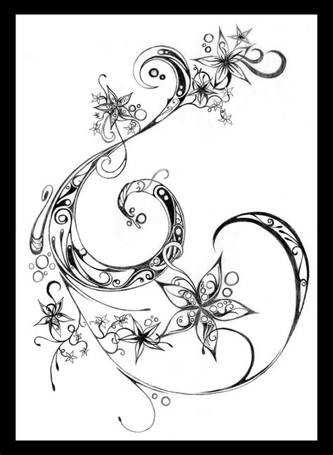 swirl flower tattoo designs flowers and swirls by fairyality on deviantart