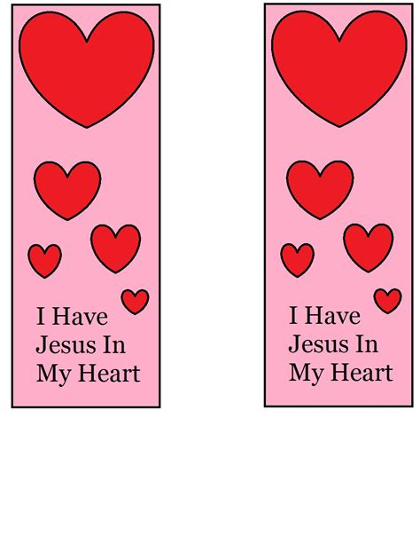 printable heart bookmarks valentine bookmarks