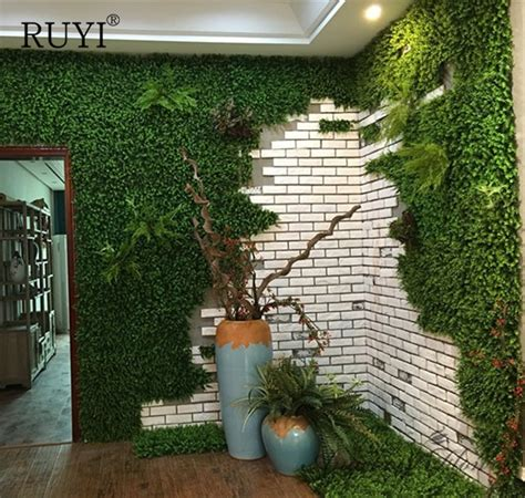 high quality artificial grass wall green plant setting