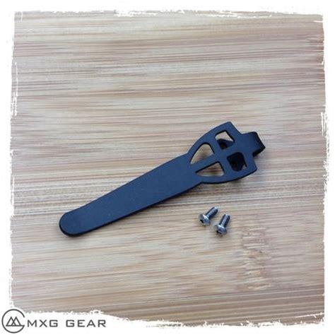 spyderco pocket clip custom made titanium carry pocket clip for spyderco