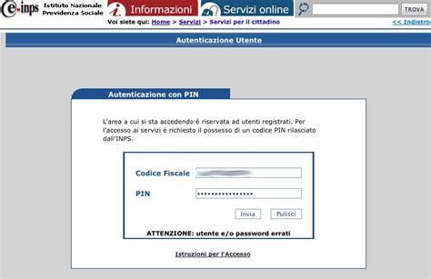 codice sedi inps accesso area riservata ex inpdap e ricerca servizi