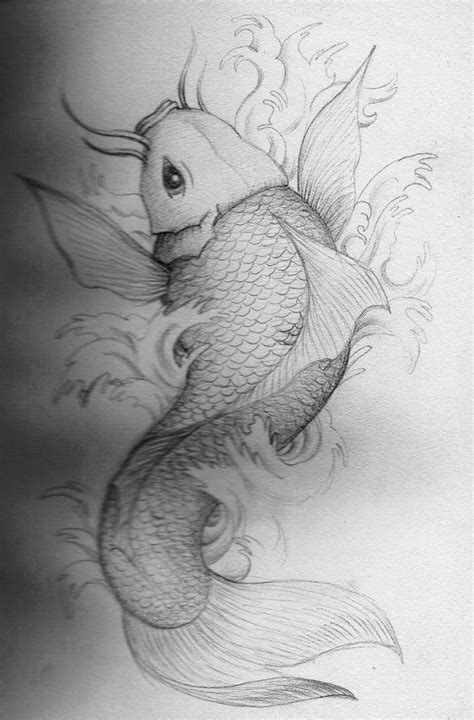 amazing koi fish draw  tattoo design tattooshuntercom