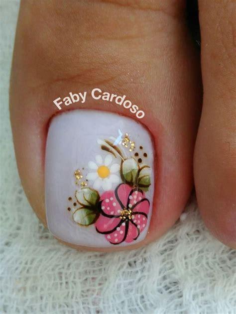 uñas decoradas con flores grandes para pies 25 melhores ideias de unhas no pinterest unhas