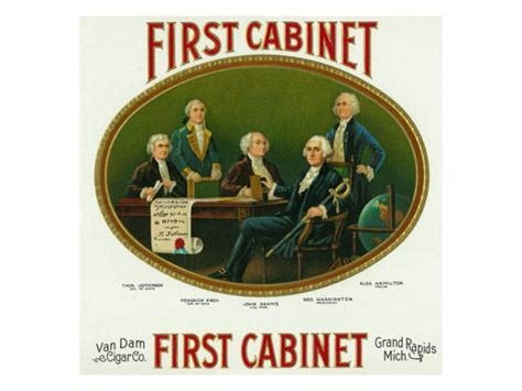 Cabinet Of George Washington by Cabinet Brand Cigar Box Label George Washington S