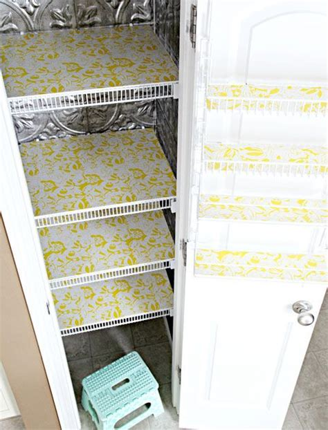 Pantry Shelf Liner Ideas by Wire Shelving Metals And Contact Paper On