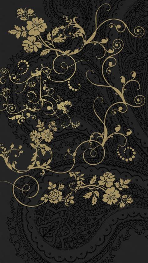 iphone wallpaper classic art dark classic floral patterns wallpaper free iphone