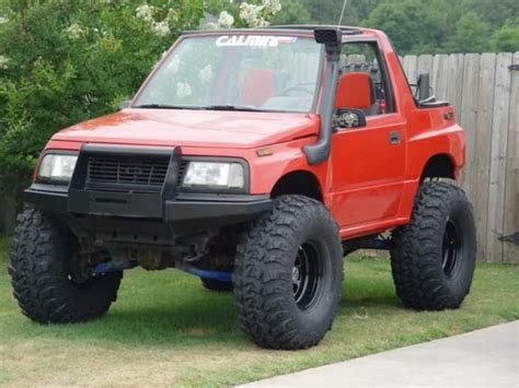chevy tracker off road lifted tracker with snorkel sidekick tracker