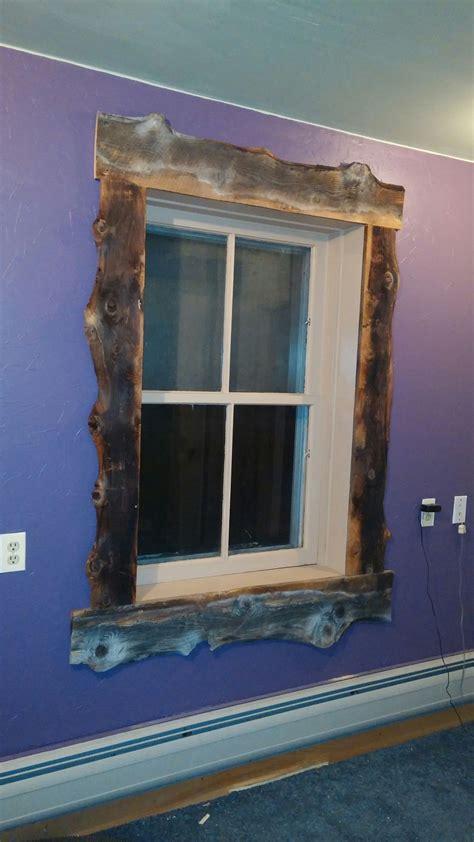 trimmed   window   slab barnwood lookin