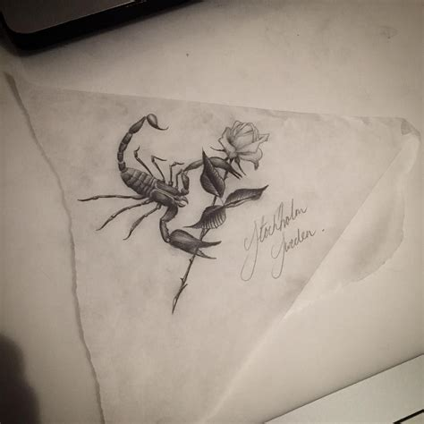 scorpion with rose tattoo scorpio design tattoos tattoos