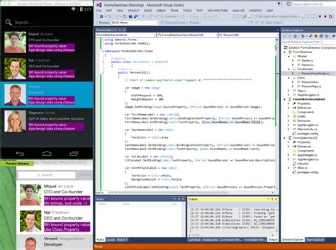 xamarin nested layout macaw how to share xamarin forms data binding code