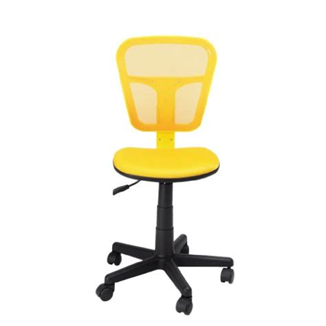 Furniturer Yellow Adjustable Home Chair Mesh Office Task Yellow Desk Chair