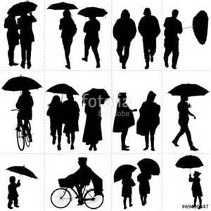 quot silhouettes de passants sous la pluie quot fichier vectoriel