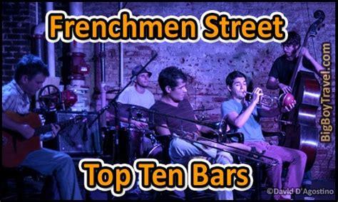 frenchmen street top ten bars     orleans