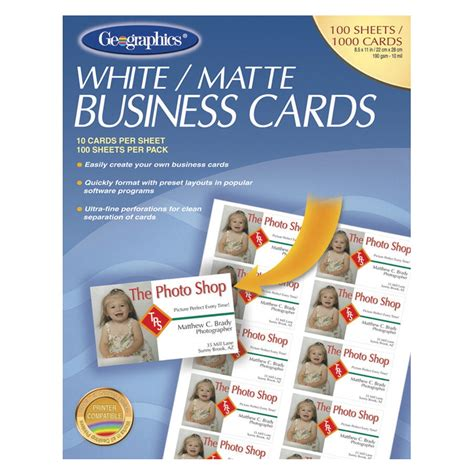 1000 Business Cards For 10