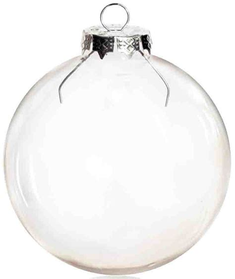 free shipping diy paintable clear christmas ornament
