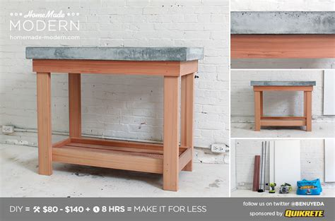 modern ep38 wood concrete kitchen island