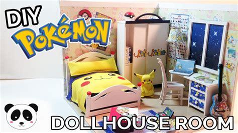 pokemon bedroom accessories diy pokemon dollhouse room youtube
