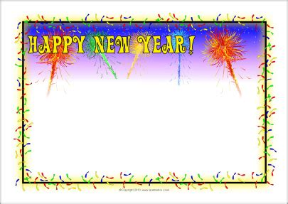 new year printable border happy new years border new calendar template site
