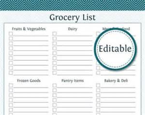 grocery list pdf etsy