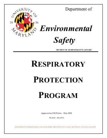 Salina Fire Department Respiratory Protection Program Table Of Respiratory Protection Program Template