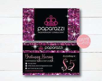 Paparazzi Business Cards Etsy Paparazzi Business Card Template