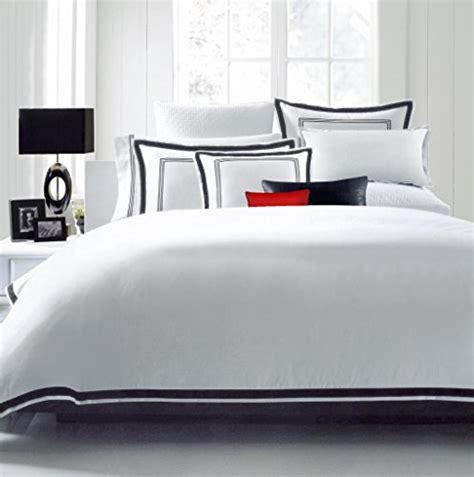 white comforter with black trim hotel luxury 3pc duvet cover set elegant white black trim
