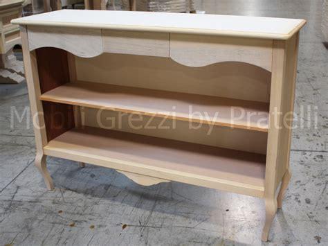 librerie legno grezzo consolle grezze libreria consolle in legno grezzo
