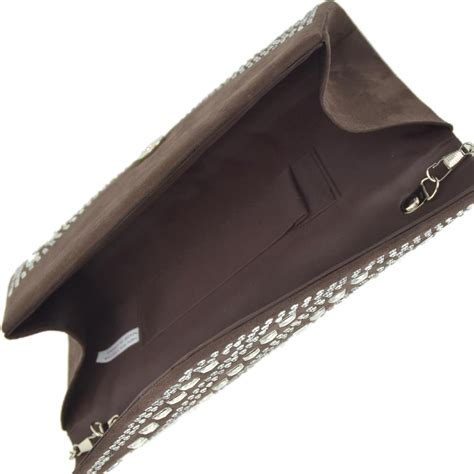Other Designers Ry Augousti Designer Evening Clutches by Studded Rhinestone Ivory Faux Leather Clutch Tradesy