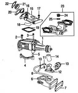Jaguar Parts List Jaguar Xkr X100 And X150 Supercharger Unit Layout