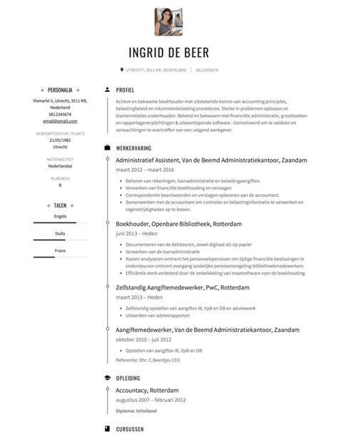 cv voorbeeld boekhouder solliciteer net