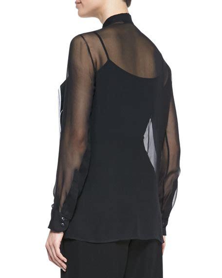 Flap Detail Blouse christopher organza layered flap blouse