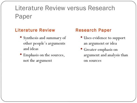 Library Literature Review by Writing A Literature Review