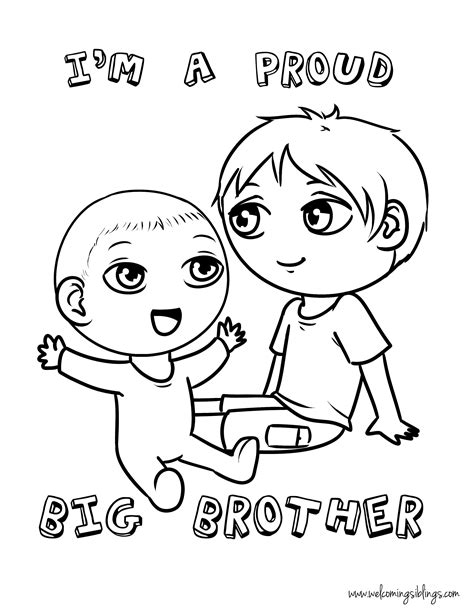 coloring pages baby sister free quot big brother quot coloring page welcoming siblings
