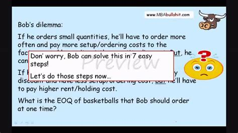 Mba Bullshit Cok by Eoq With Quantity Discount Preview At