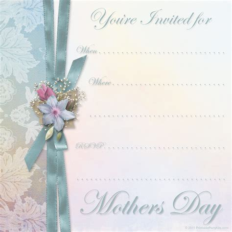 Mother S Day Printable Party Kits S Day Invitation Template