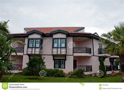 german style house german style house with tropical garden royalty free stock