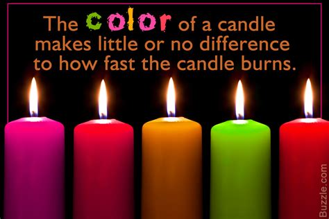 colored candles burn varied color candles to test how color affects the