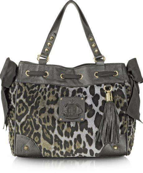 Couture Daydreamer Tote by Couture Animal Printed Velour Daydreamer Tote In