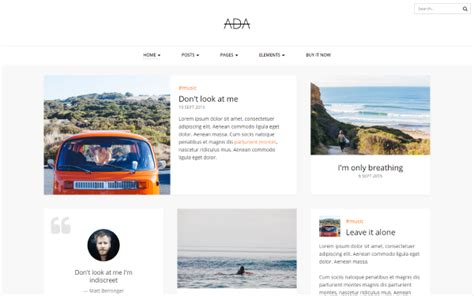 x theme blog template ada personal blog template wrapbootstrap