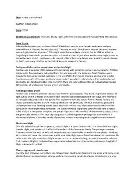 apa format case study case study exle apa style